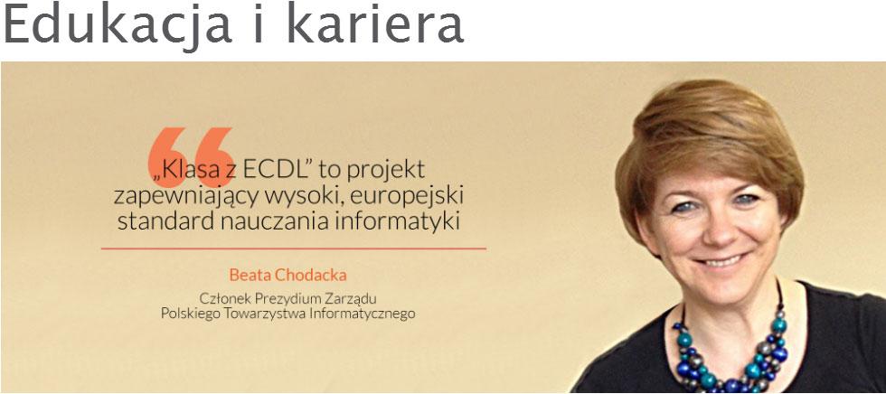 Beata Chodacka Edukacja i Kariera